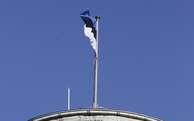 Флаг Эстонии башне
