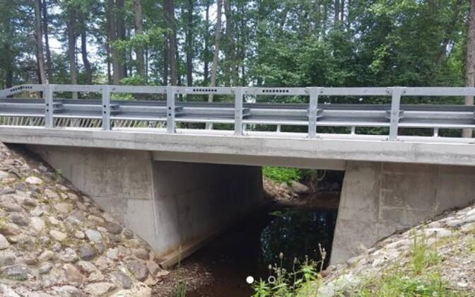 Veski sild Pärnumaal, mille Eesti Teed renoveeris 2015. aastal.