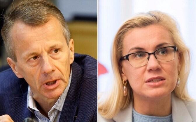 Jürgen Ligi ja Kadri Simson.