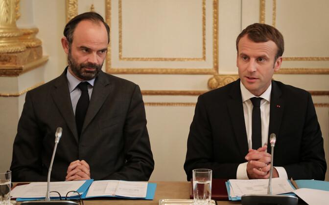 Prantsusmaa peaminister Édouard Philippe ja president Emmanuel Macron.