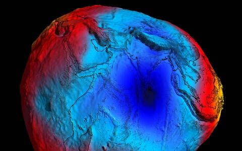 GOCE andmete alusel koostatud geoidi mudel.