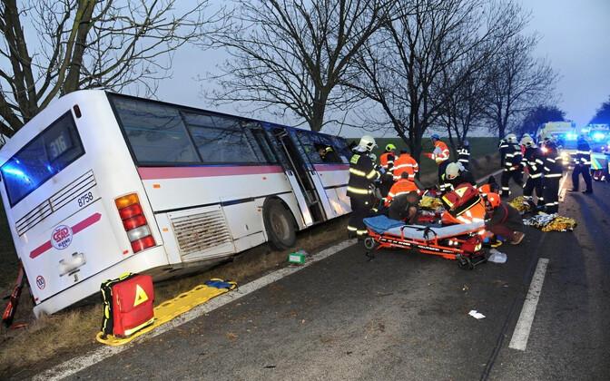 Praha bussiõnnetus.