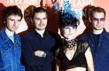 The Cranberriese muusikud Noel Hogan, Mike Hogan, Dolores O Riordan ja Fergal Lawler Iiri muusikaauhindade jagamisel Dublinis 2002. aastal
