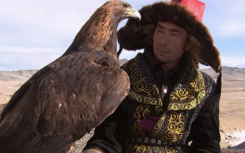 Mongoolia üks viimastest kotkaküttidest Beken Ermyekbai.