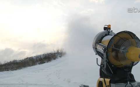Снежная пушка.