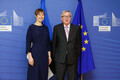 President Kersti Kaljulaid ja Euroopa Komisjoni president Jean-Claude Juncker.