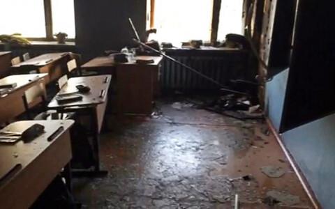 Класс в Улан-Удэ после атаки подростка.