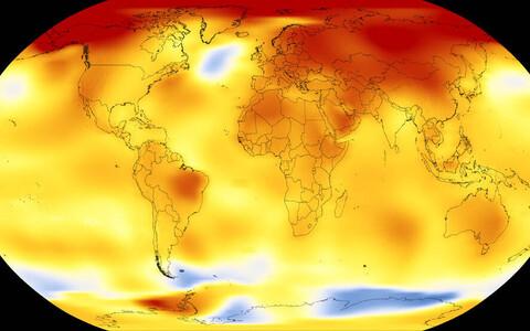 NASA registreeritud 2013-2017. aasta temperatuurianomaalia.