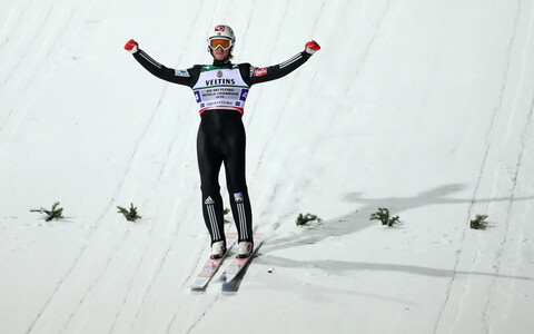 Daniel Andre Tande oli Norra viimane hüppaja ja kindlustas neile kuldmedali.