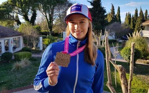 Alexandra Põlllumäe võitis sisemaailmakarikaetapil hõbemedali.