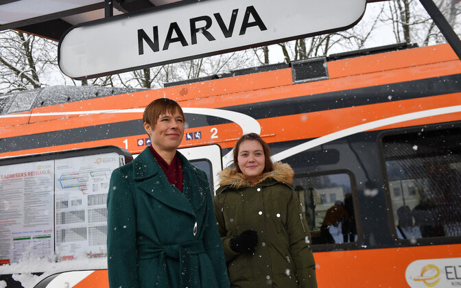 President Kersti Kaljulaid in Narva in January 2018.