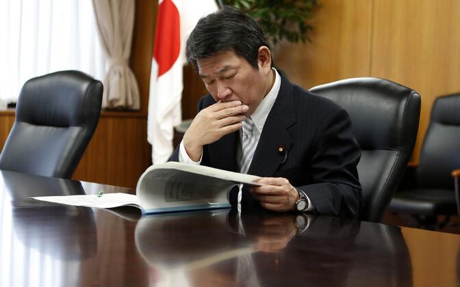 Jaapani majandusminister Toshimitsu Motegi.