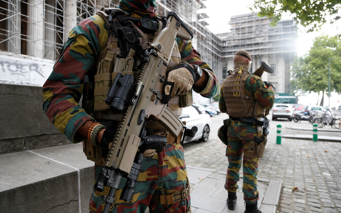 Sõdurid Brüsseli tänaval.