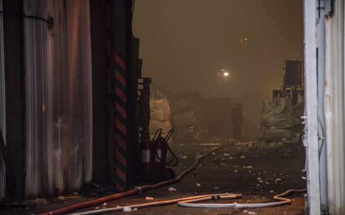 The fire was under control by 11:34 on Thursday.