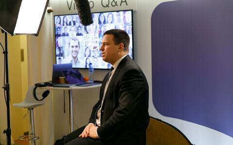Юри Ратас в Давосе в 2018 году.