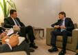 Peaminister Jüri Ratas ja Kõrgõzstani peaminister Sapar Issakov.