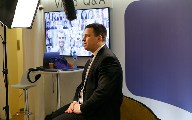 Prime Minister Jüri Ratas at the 2018 World Economic Forum in Davos.