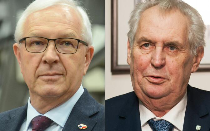 Jiří Drahoš (vasakul) ja Miloš Zeman.