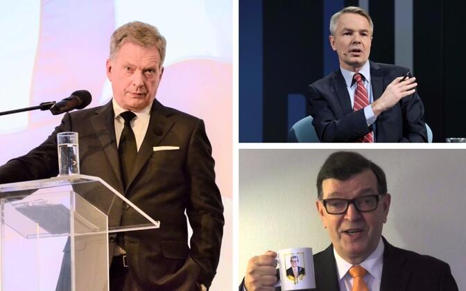Sauli Niinistö (SIPA/Scanpix), Pekka Haavisto (Reuters/Scanpix) ja Paavo Väyrynen (paavovayrynen.fi)