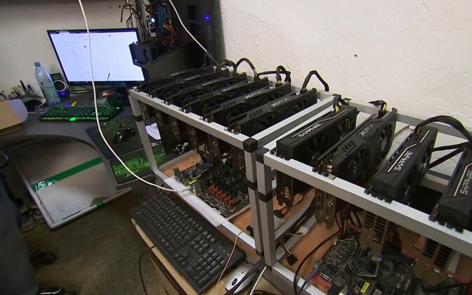 Cryptocurrency mining.