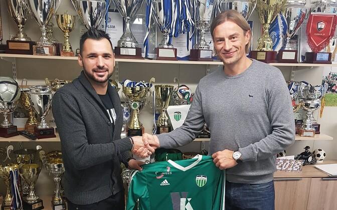 Muamer Svraka ja Levadia spordidirektor Sergei Pareiko