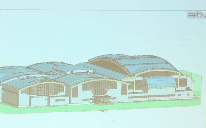 Проект нового спортивного холла в Кохтла-Ярве