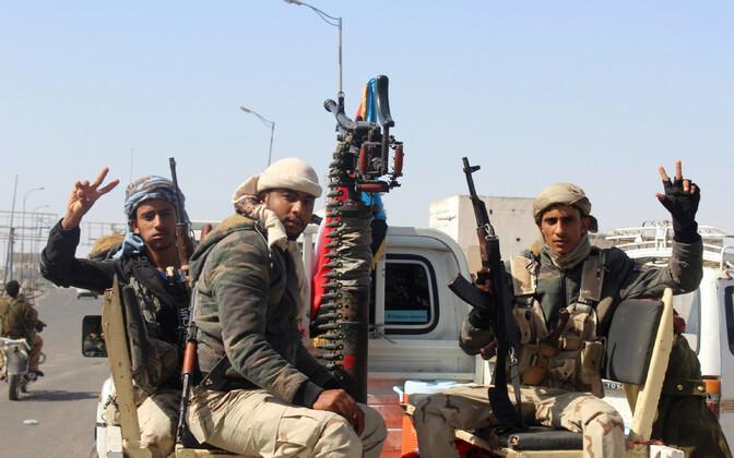 Lõuna-Jeemeni separatistid Adenis 30. jaanuaril.