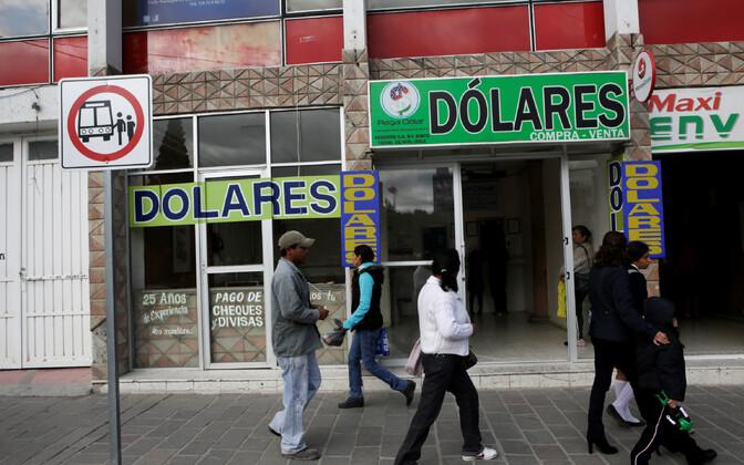 Valuutavahetuspunkt Mehhikos.