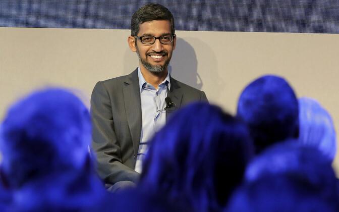 Google'i tegevjuht Sundar Pichai Davose majandusfoorumil.