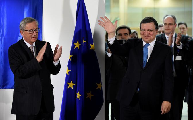 Juncker ja tema eelkäija Barroso 2014. aasta oktoobris.