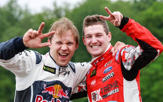 Mattias Ekström ja Andreas Bakkerud 2015. aastal.