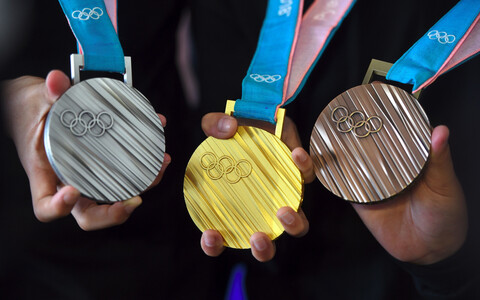 PyeongChangi olümpiamängude medalid.