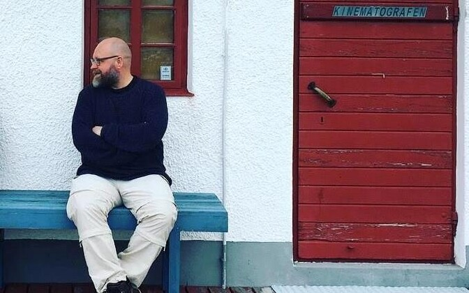 Jüri Reinvere  Fårö saarel.