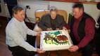 Saaremaa vanim mees Andrei Lempu tähistas 100. sünnipäeva.