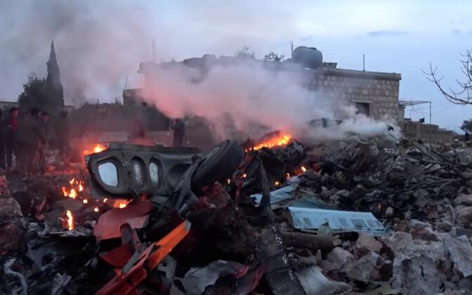 Vene sõjalennuki Su-25 rusud Idlibi provintsis 3. veebruaril.
