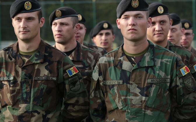 Moldova sõdurid õppusel Rapid Trident 2017 Ukrainas.