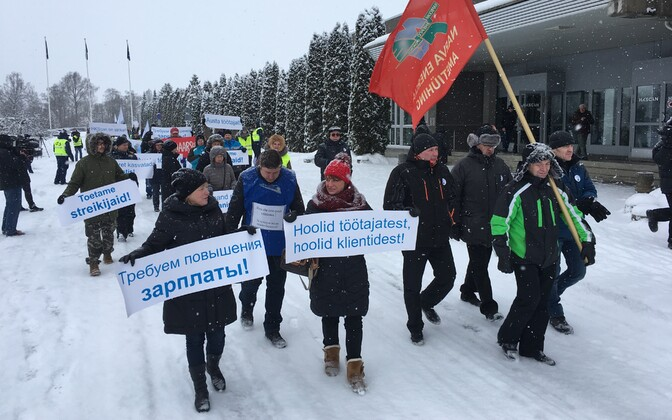 A support picket in Rakvere.