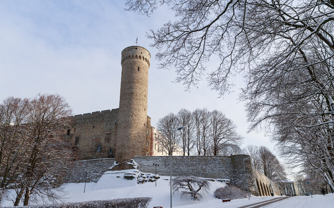 Tall Hermann, the highest tower of Tallinn's Toompea Castle.