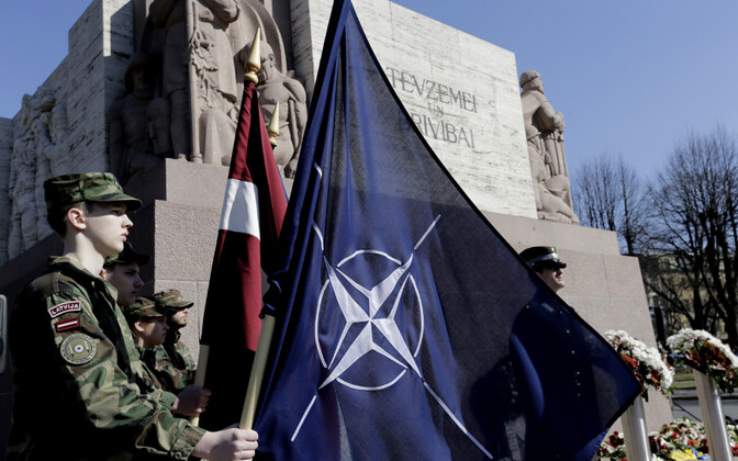 Läti sõdurid Riias NATO-ga ühinemise aastapäeva tähistamas 2014. aastal.