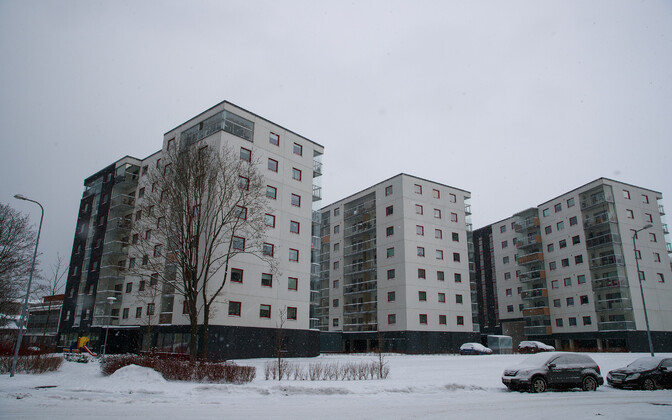 New apartment buildings in Tallinn.