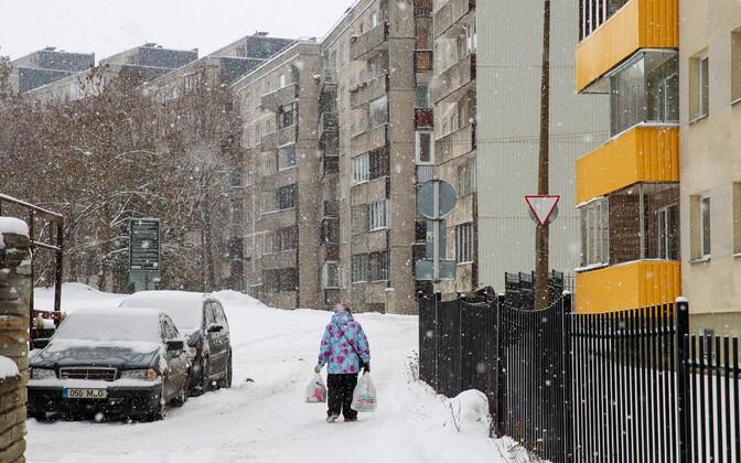 A pensioner in Tallinn.