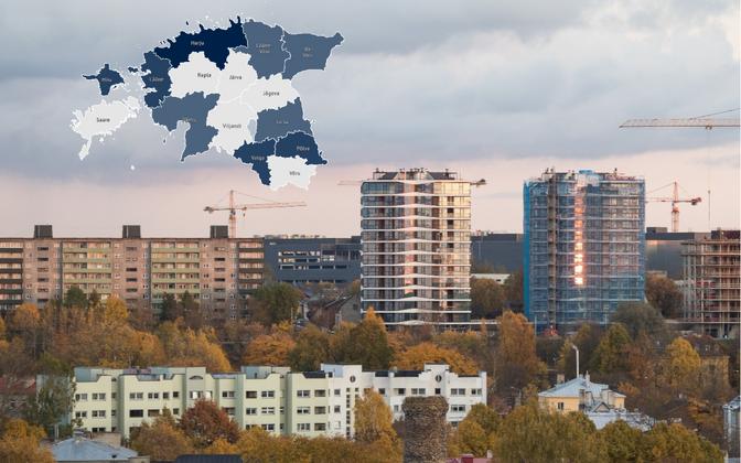 Uute korterite kerkimine mõjutab hinnahüppeid ja korteritehingute kasvu kinnisvaraturul.