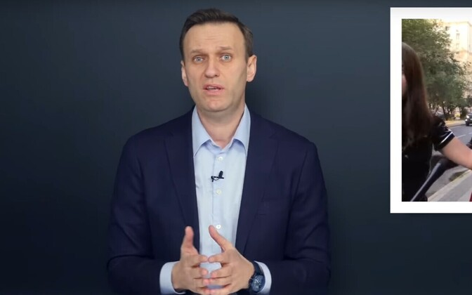 Kaader Navalnõi videost.