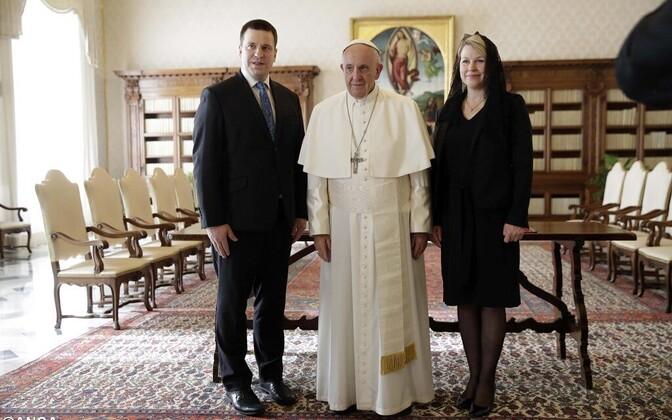 Встреча Юри Ратаса с Папой Римским Франциском.