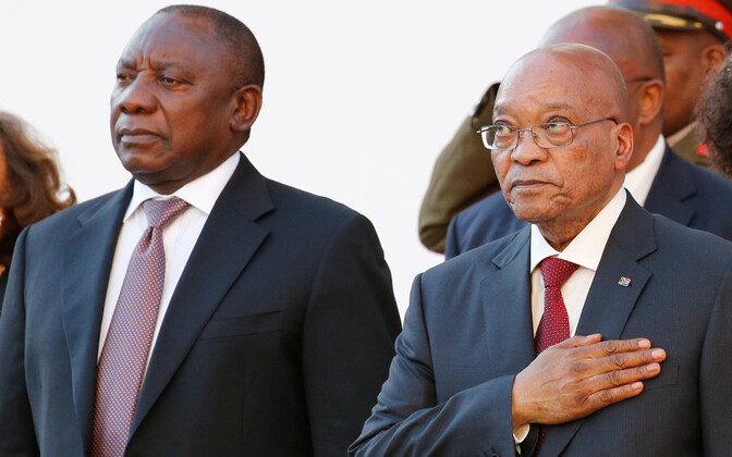 Cyril Ramaphosa ja Jacob Zuma.