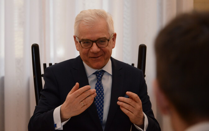 Polish Minister of Foreign Affairs Jacek Czaputowicz met with Minister of Foreign Affairs Sven Mikser (SDE) in Warsaw on Friday. Feb. 9, 2018.