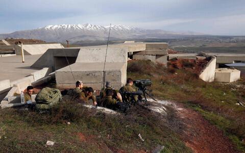 Позиции израильских военных на оккупированных Голанских высотах.
