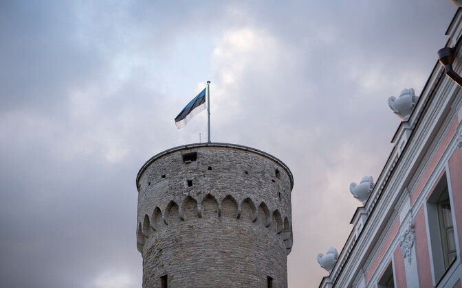 Estonian Flag on Pikk Hermann tower