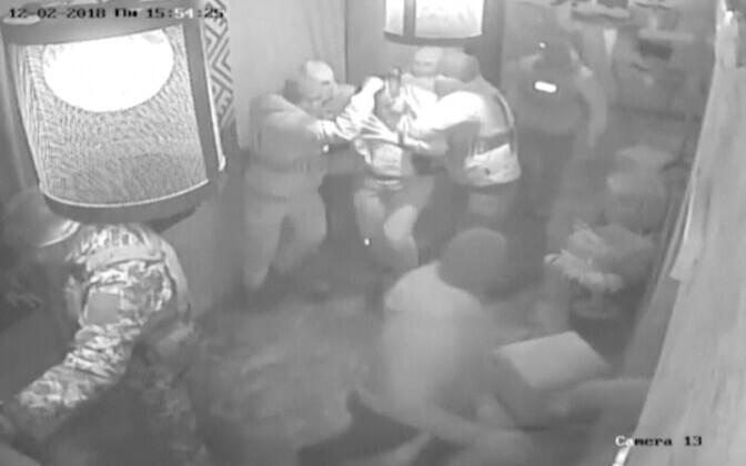 Valvekaamera video Saakašvili kinnipidamisest Kiievi restoranis Suluguni.