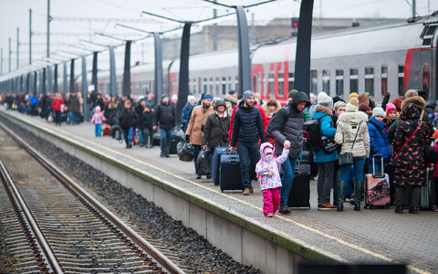 Российские туристы в Таллинне.
